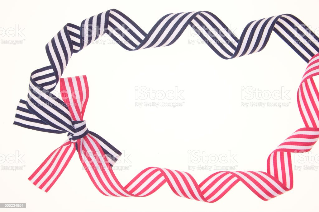 Frame made of ribbon stock photo