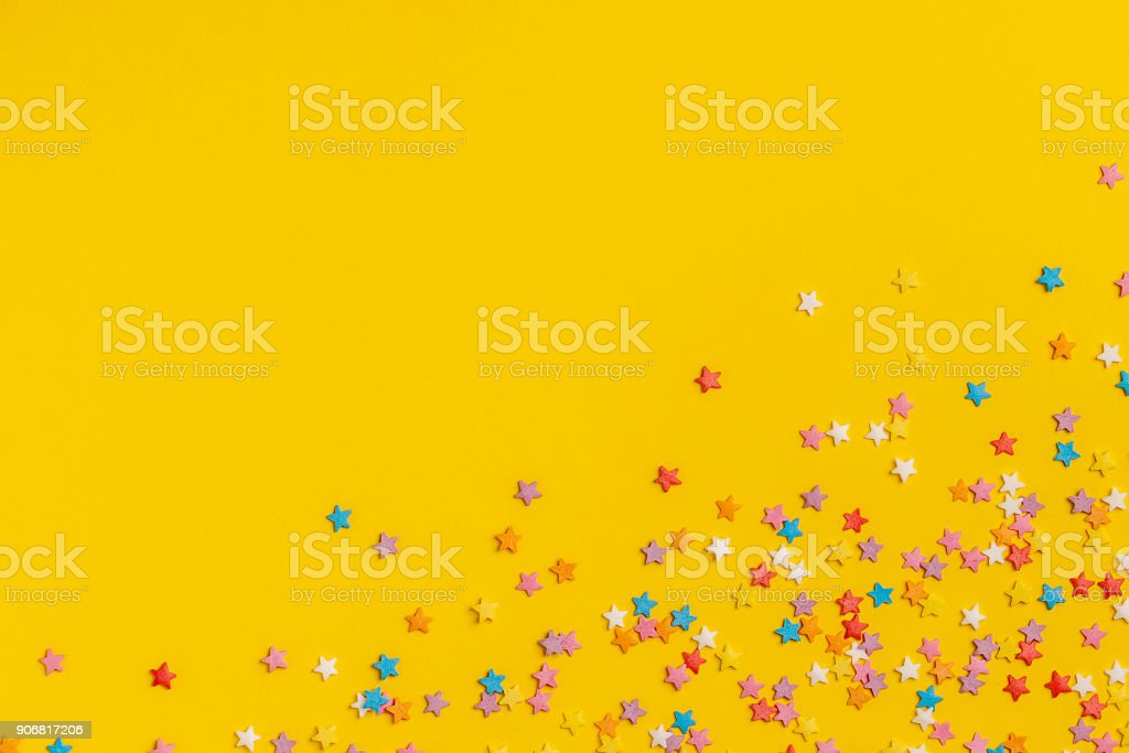 frame made of sweet confetti stock photo