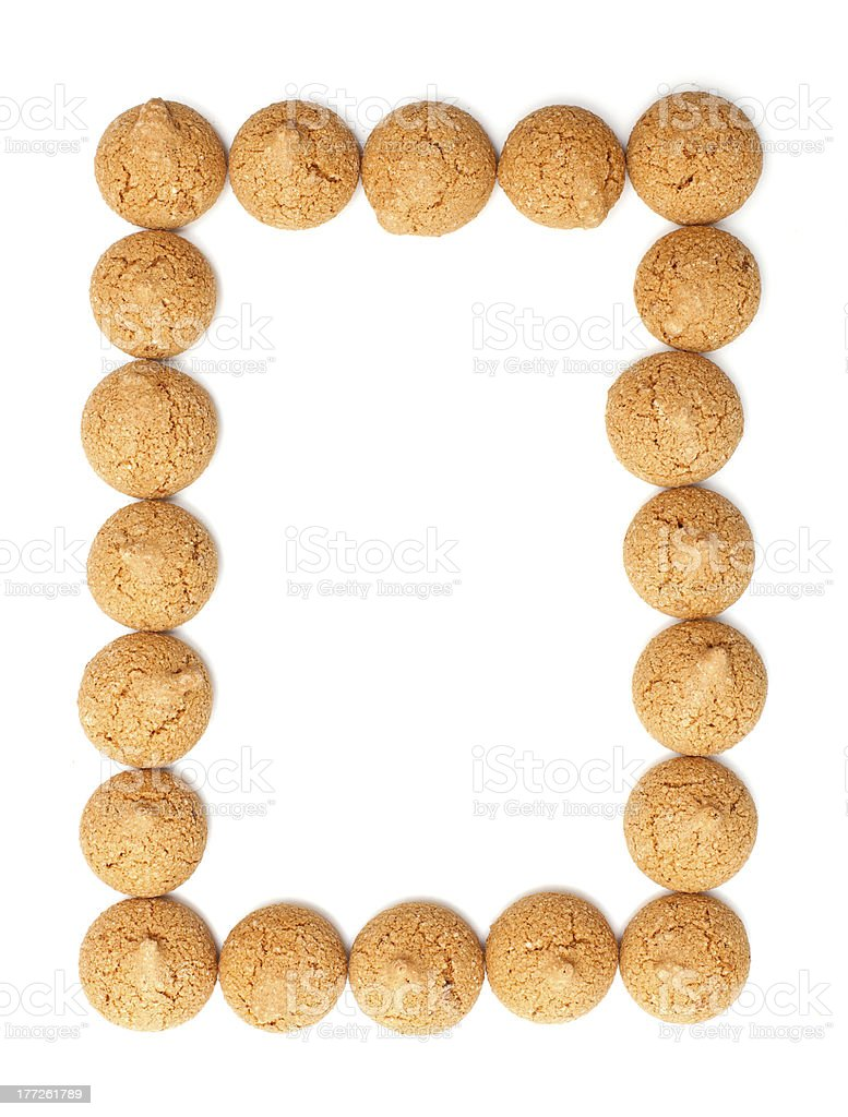 frame made of traditional italian almond cookies - amaretti stock photo