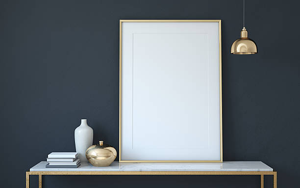 Frame mockup. 3d render. stock photo