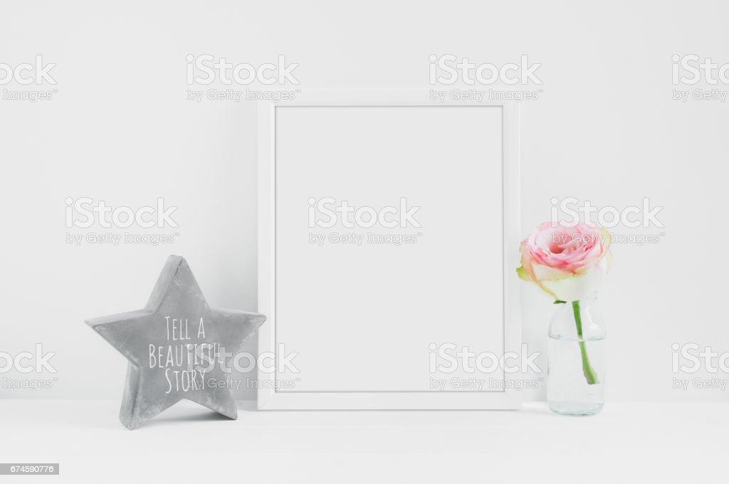 Frame mockup - styled image stock photo