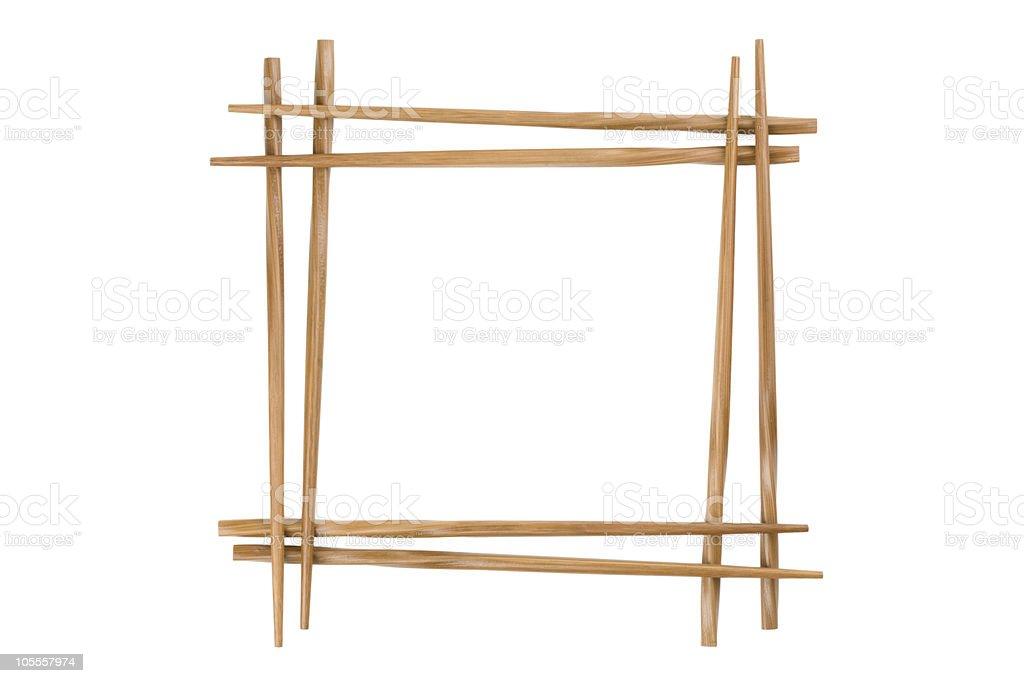 frame of bamboo chopsticks royalty-free stock photo