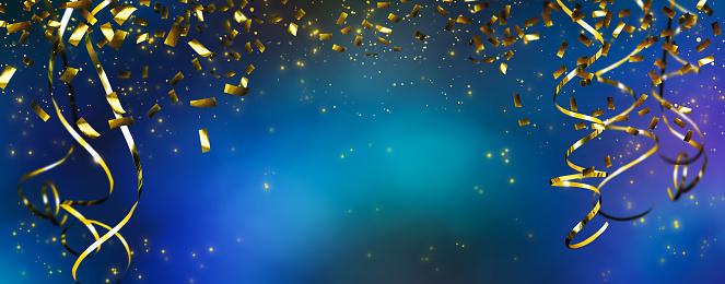 Frame Of Beautiful Party Decoration - Fotografias de stock e mais imagens de Abstrato