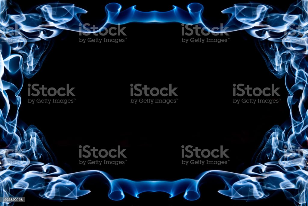 Frame Of Blue Smoke Stock Photo Download Image Now Istock