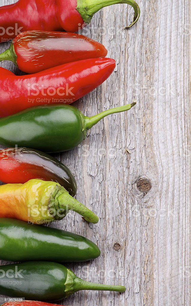 Frame of Chili Peppers stock photo