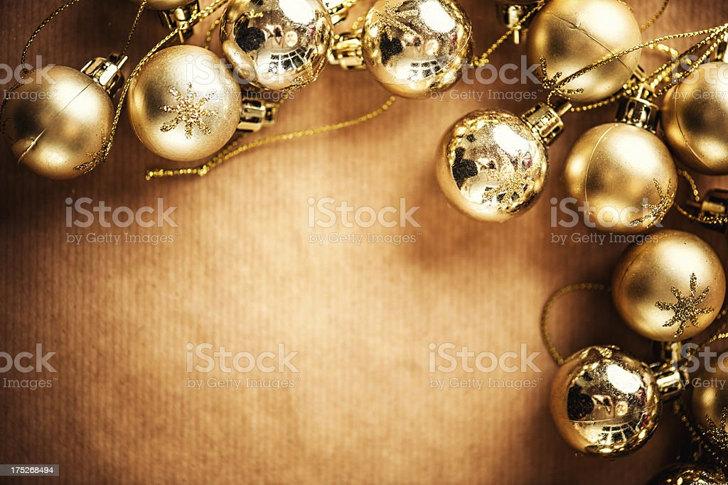 Frame of christmas baubles royalty-free stock photo