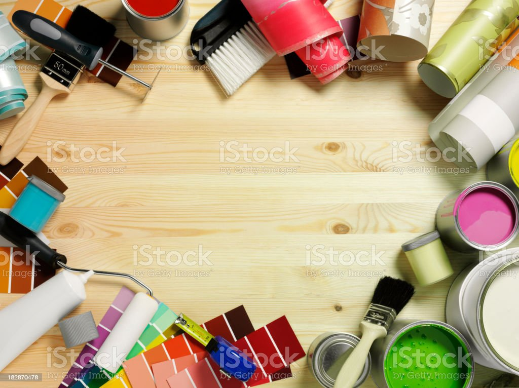 Frame of Decorating Equipment royalty-free stock photo