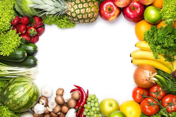 Bild von frischem Obst und Gemüse – Foto
