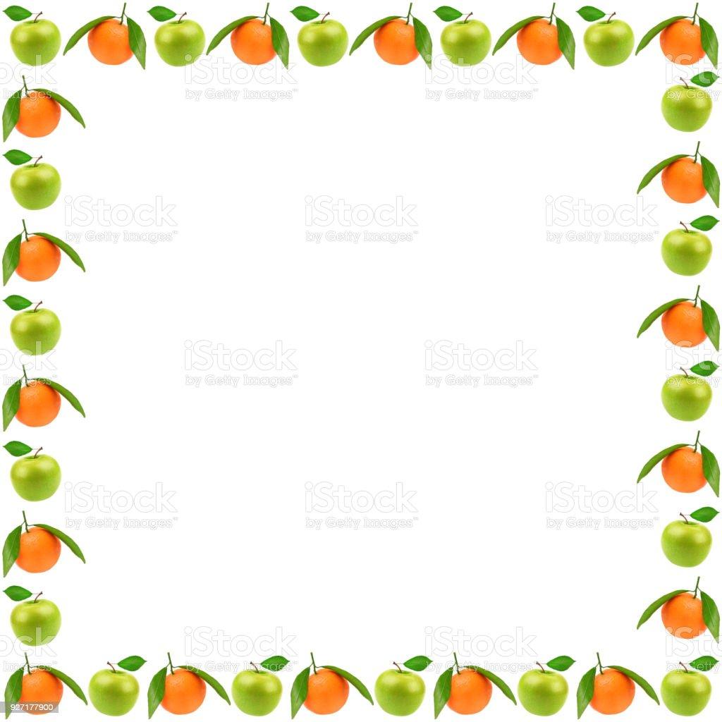 Frame of fresh fruits stock photo