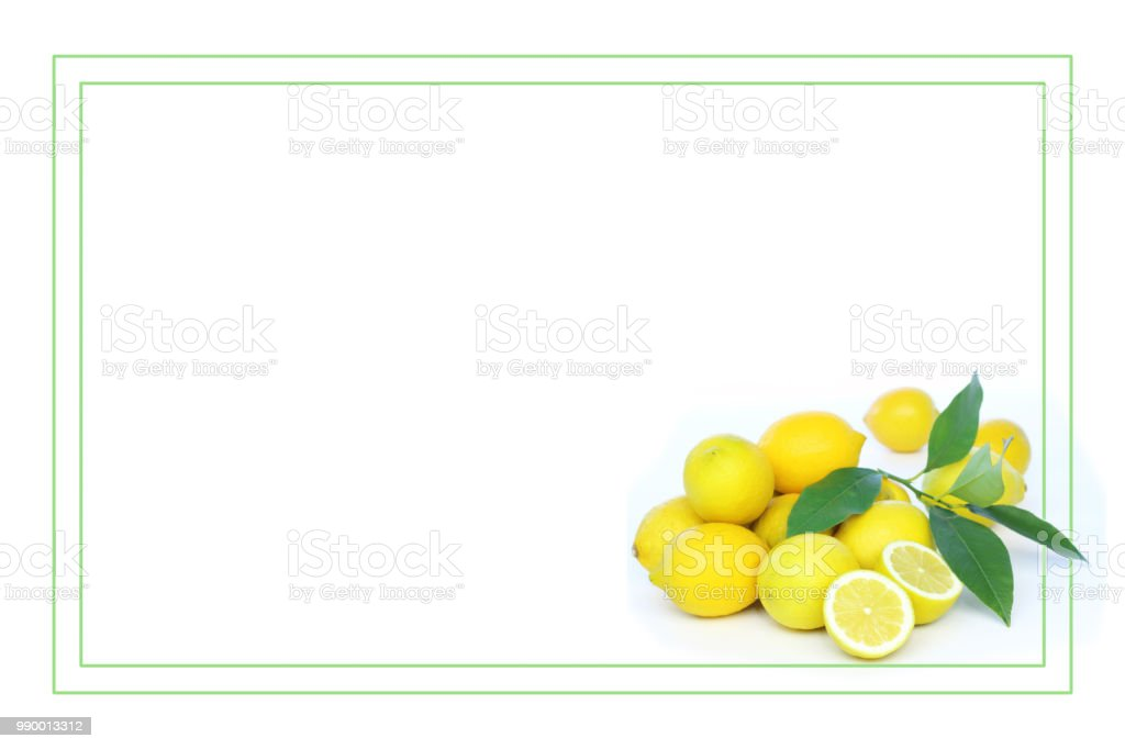 frame of lemon stock photo