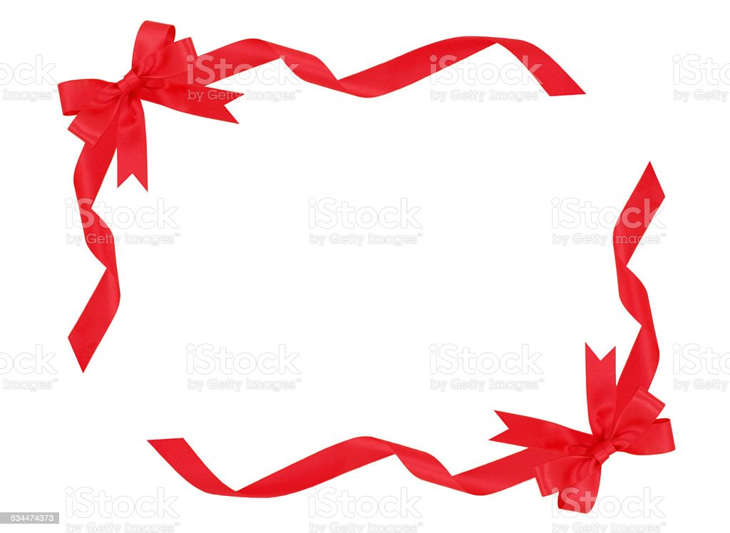 Frame Of Red Ribbon Stock Photo & More Pictures of 2015 | iStock