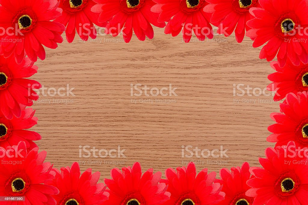 Frame Of Rustic Summer Background Royalty Free Stock Photo