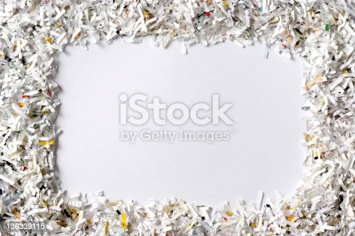 A frame of the shredded paper own your design.