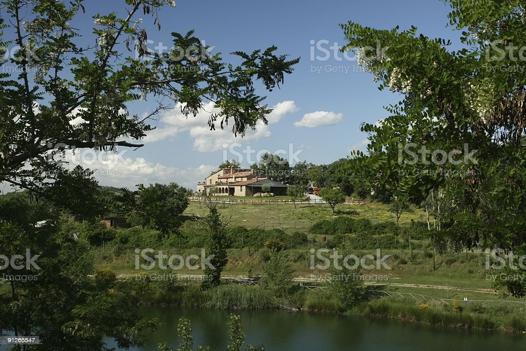 Frame of Tuscany Country Life royalty-free stock photo