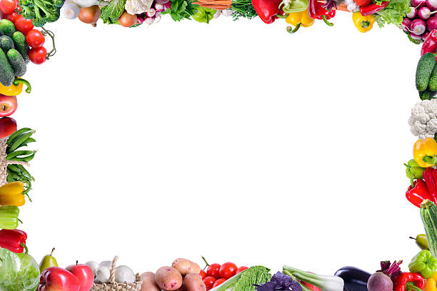 frame of vegetables stock photo