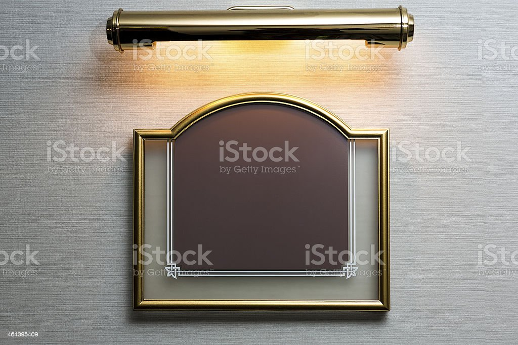 Frame on the wall stock photo
