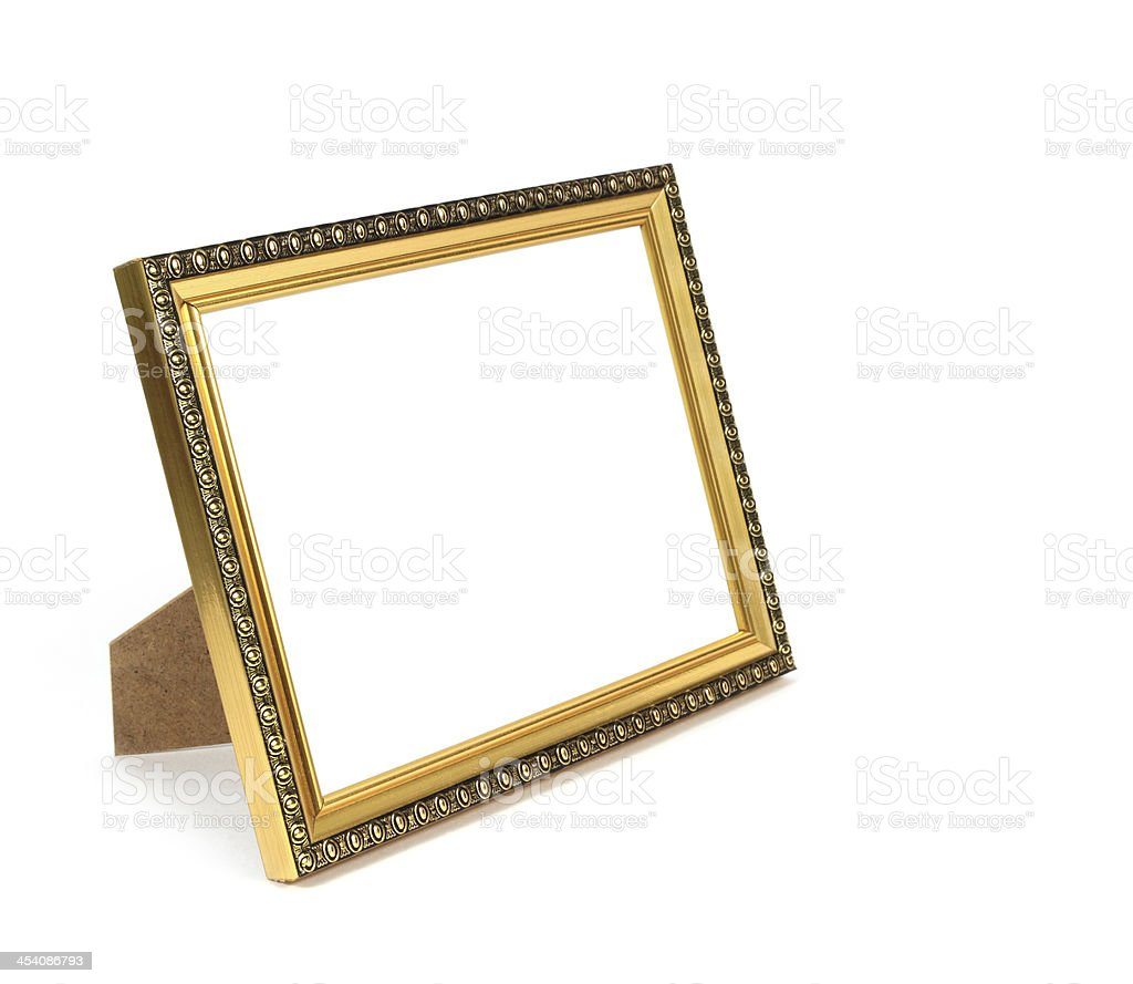 frame on the white background stock photo