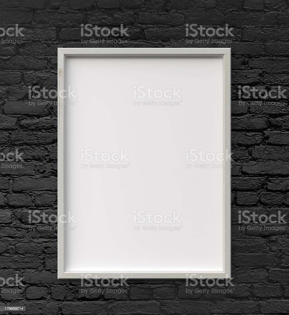 frame on wall stock photo