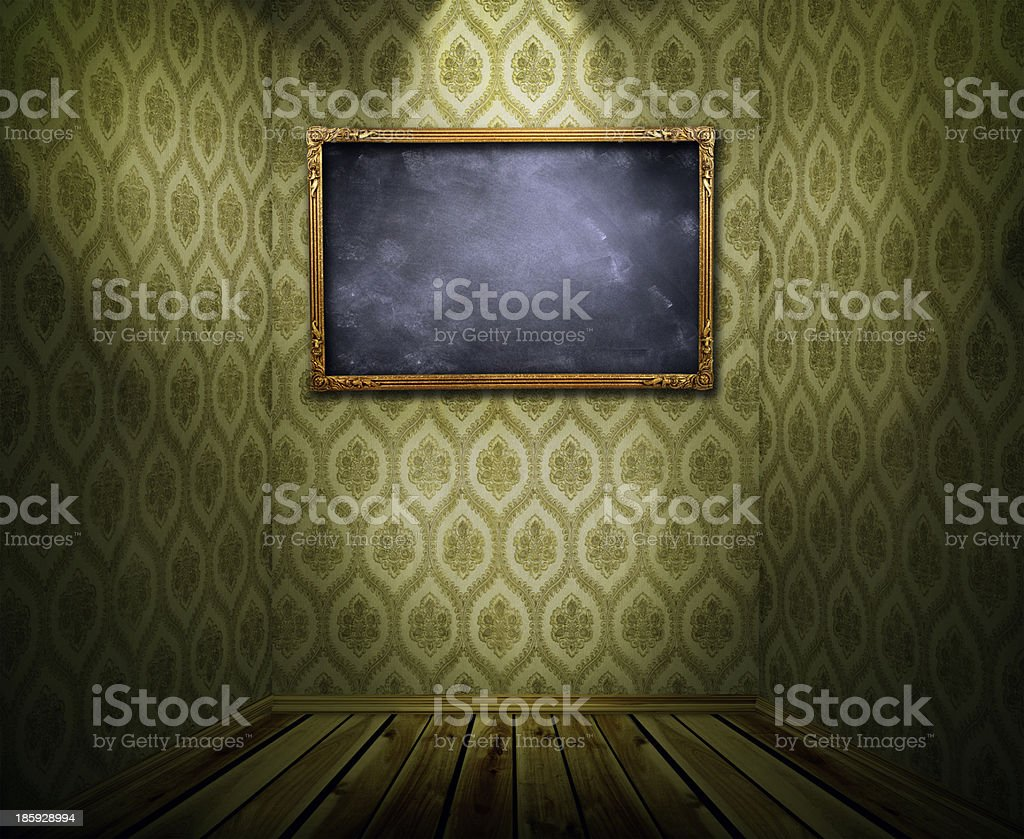 Frame on wall royalty-free stock photo