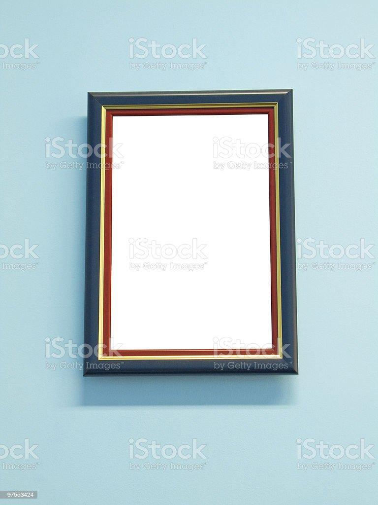Cadre sur le mur photo libre de droits