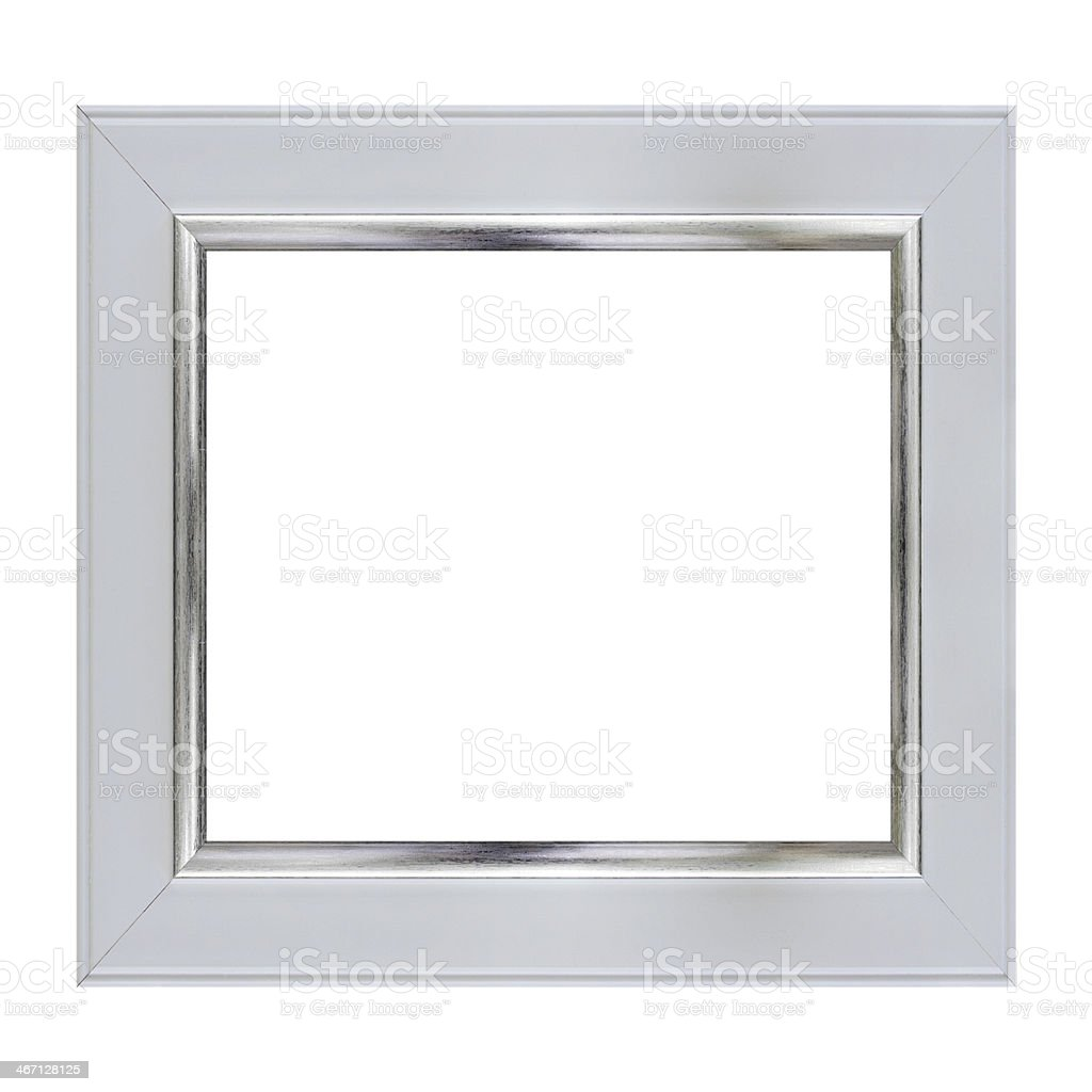 frame on white stock photo