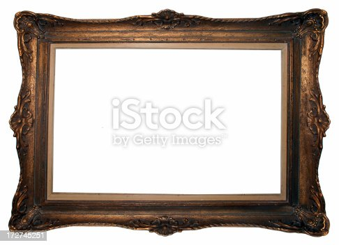 Photo of a classical frame, isolated on white