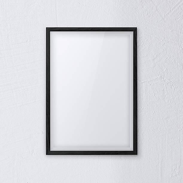 weißen rahmen an der wand - bilder poster stock-fotos und bilder