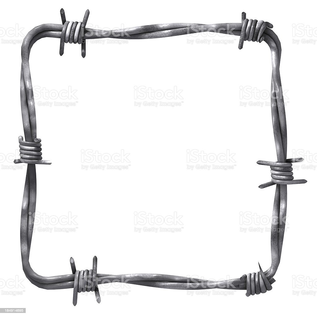 Frame with barbed wire royalty-free stock photo