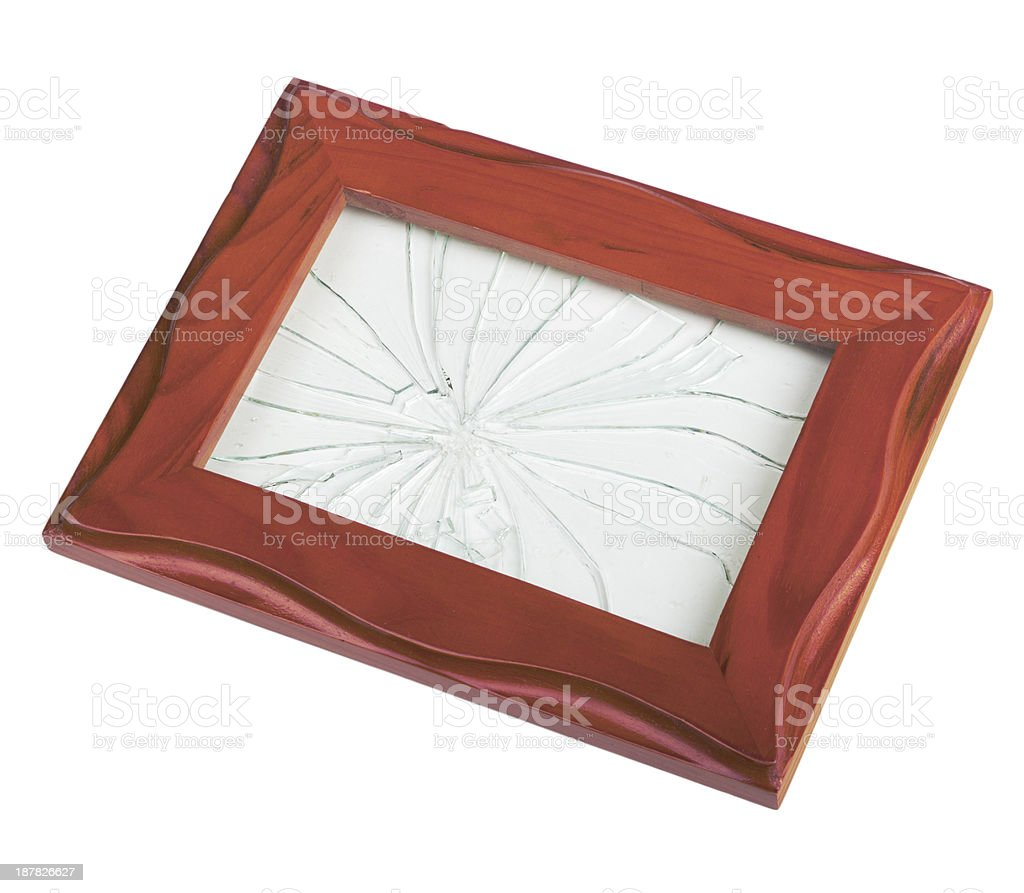 Frame With Broken Glass Stock Photo & More Pictures of Broken | iStock