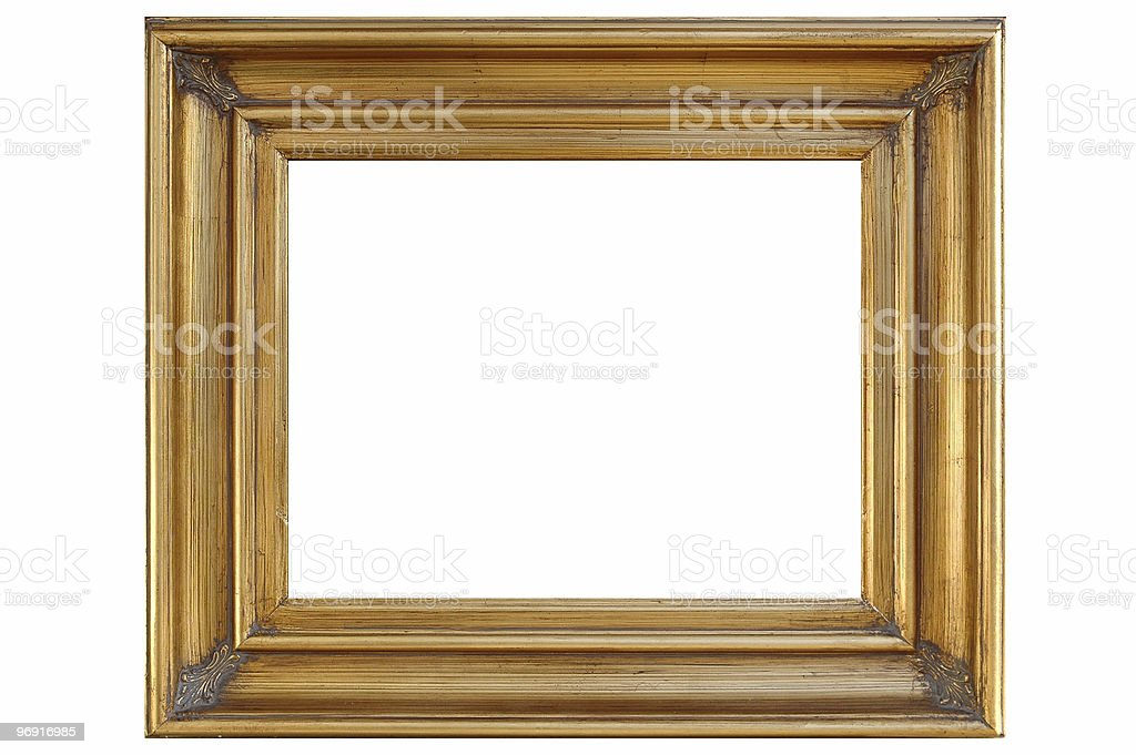 Frame with clipping path royalty-free stock photo