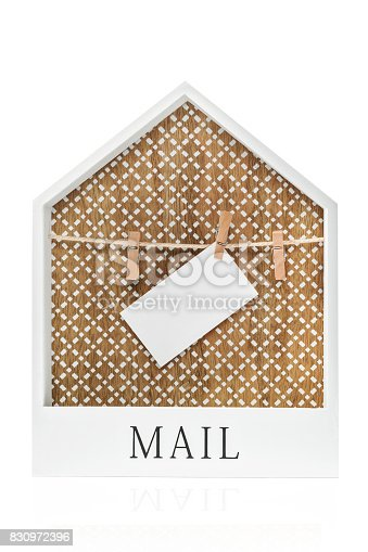 istock Frame with clothes pegs for attaching notes 830972396
