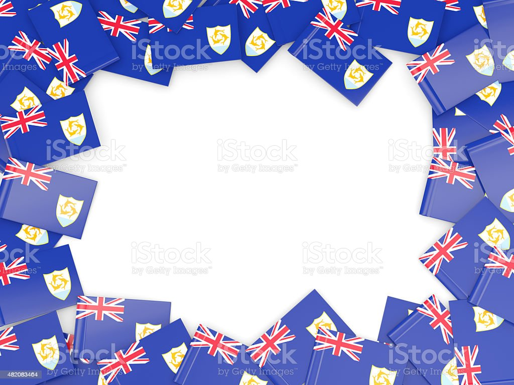Frame with flag of anguilla stock photo