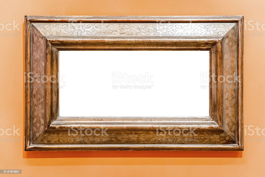 Frame with flowers stock photo