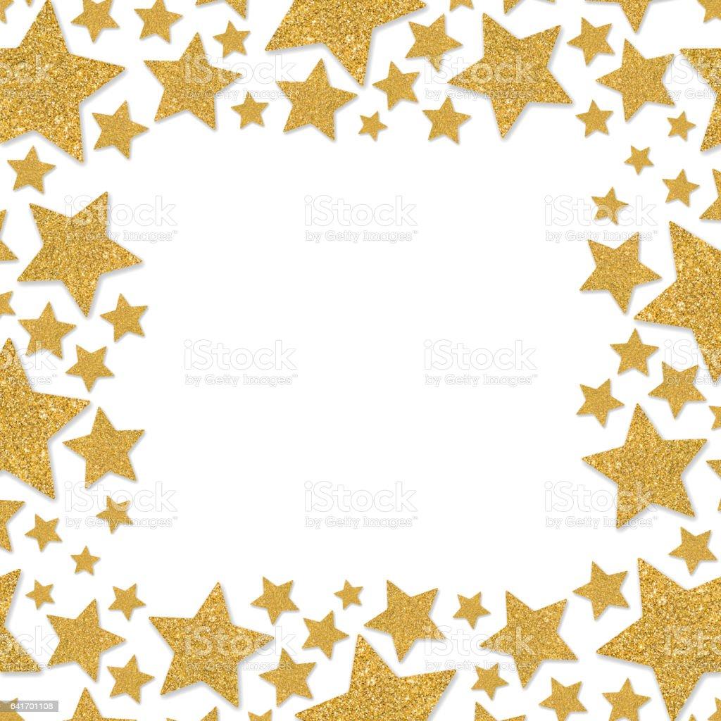 Rahmen Mit Sternen Schimmer Gold Sparkle Frame Von Sternen Gelben ...