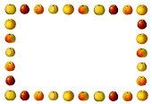 Frame with varieties of apples