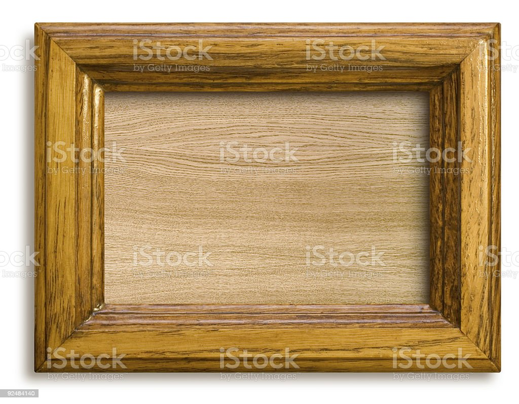 frame with wooden background royalty-free stock photo