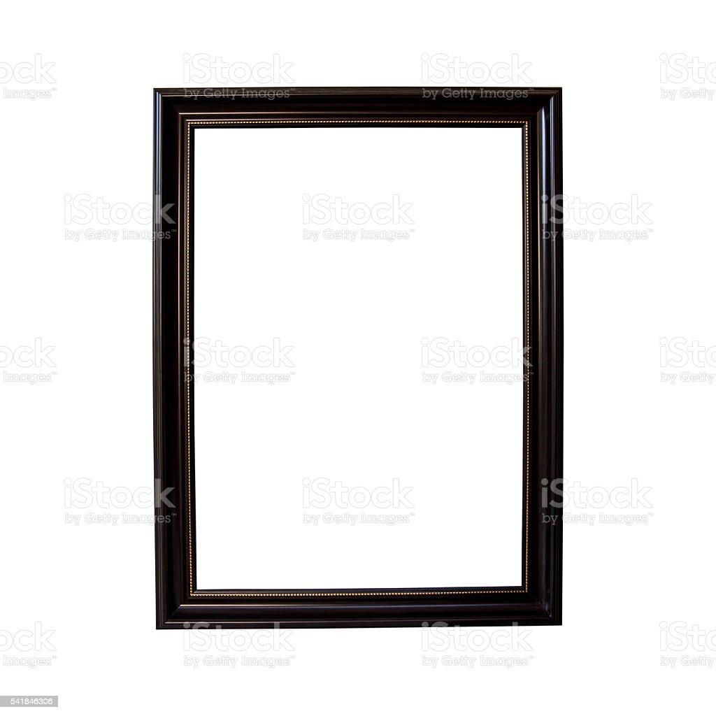 Frame wood isolated on white background stock photo