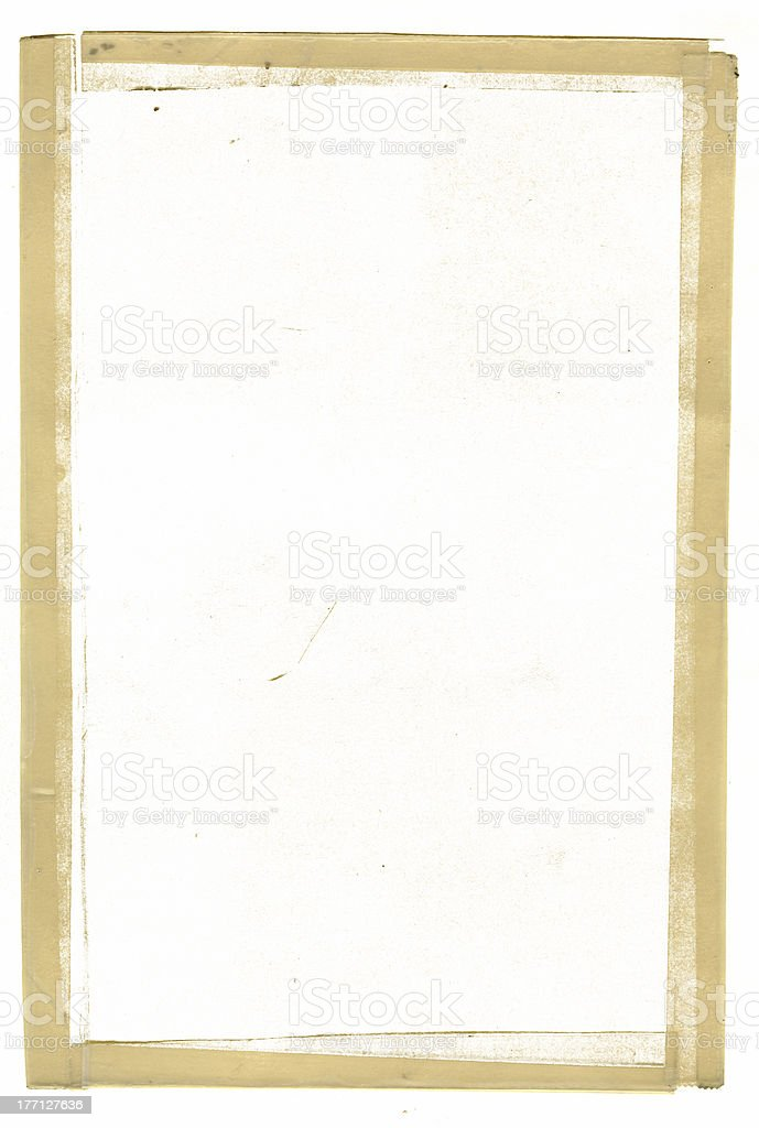 Frame - Yellowed Grunge Masking Tape royalty-free stock photo