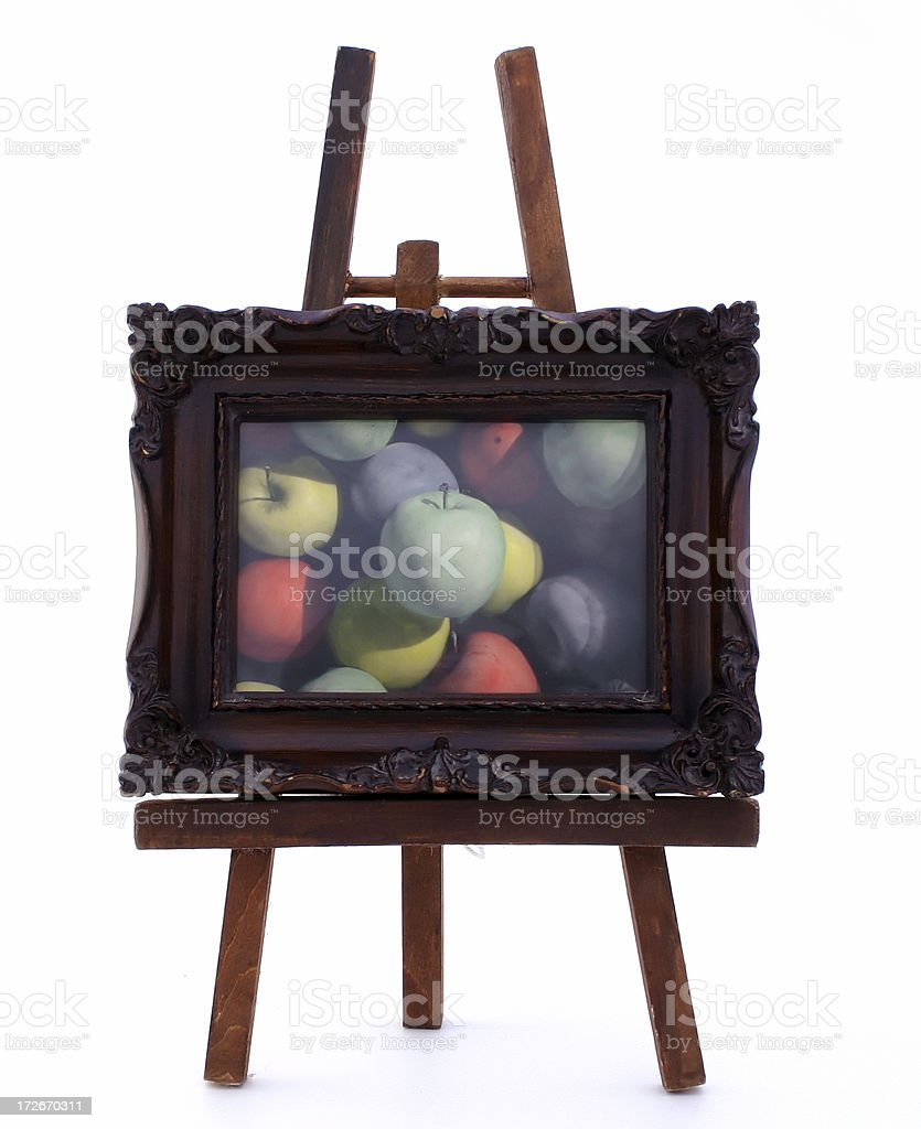 Framed Apples royalty-free stock photo