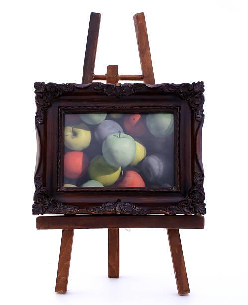 Framed Apples stock photo
