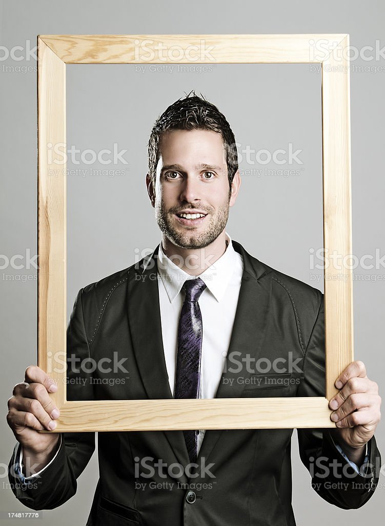 Framed businessman stock photo