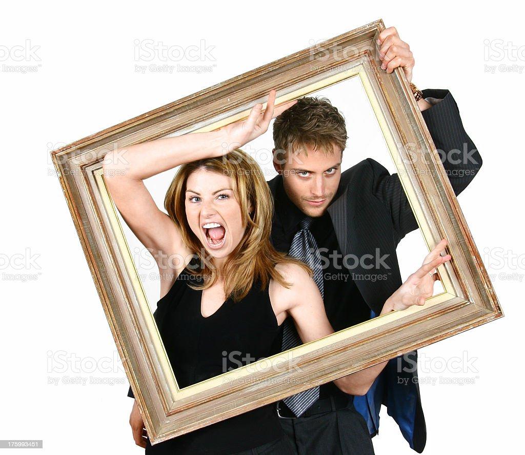 Framed Couple 02 royalty-free stock photo