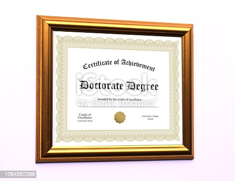 A fictional framed degree