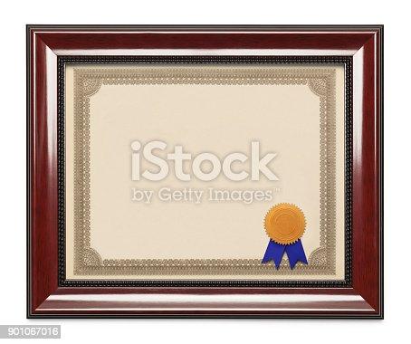 istock Framed Diploma 901067016