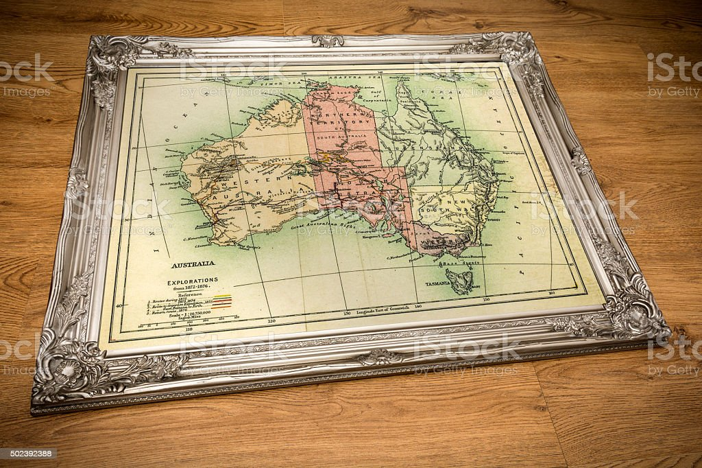 Framed map of australia stock photo more pictures of 2015 istock framed map of australia royalty free stock photo gumiabroncs Gallery