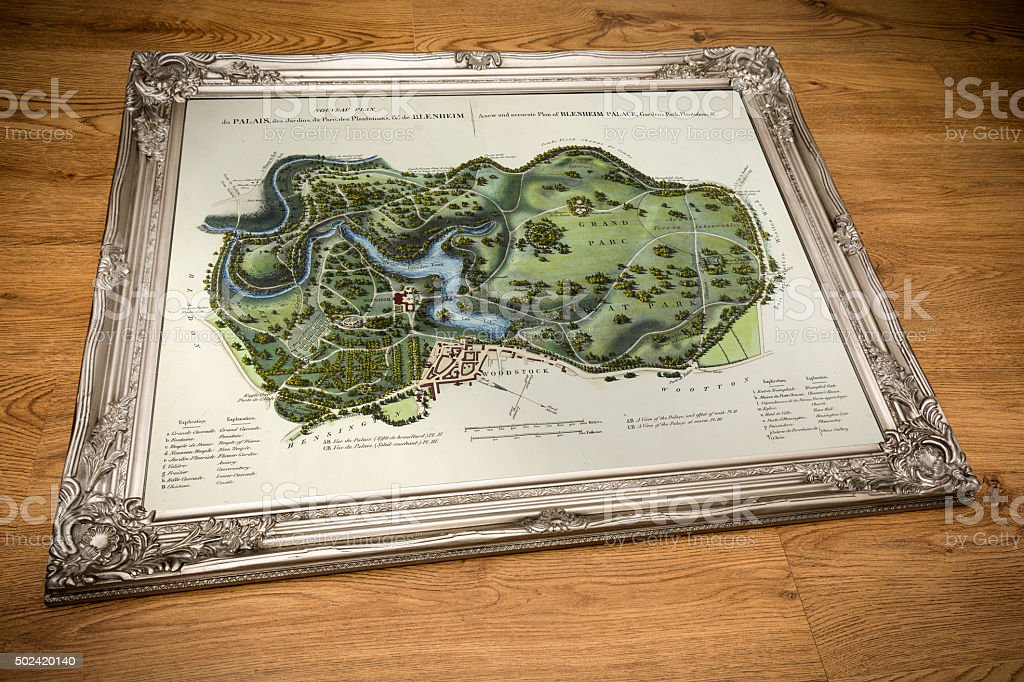 Framed Map - Treasure Island Map stock photo