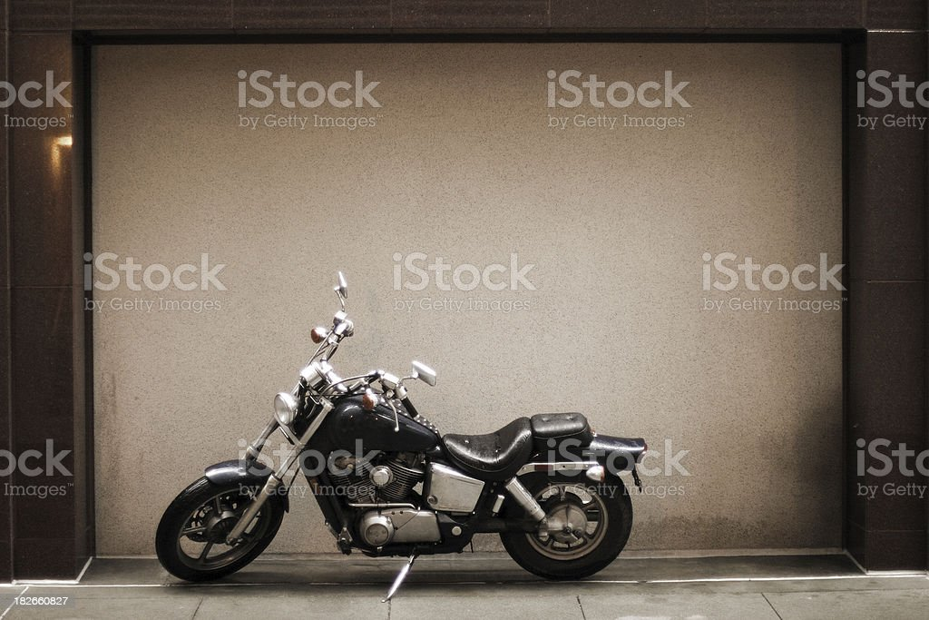 Framed Motorcycle stock photo