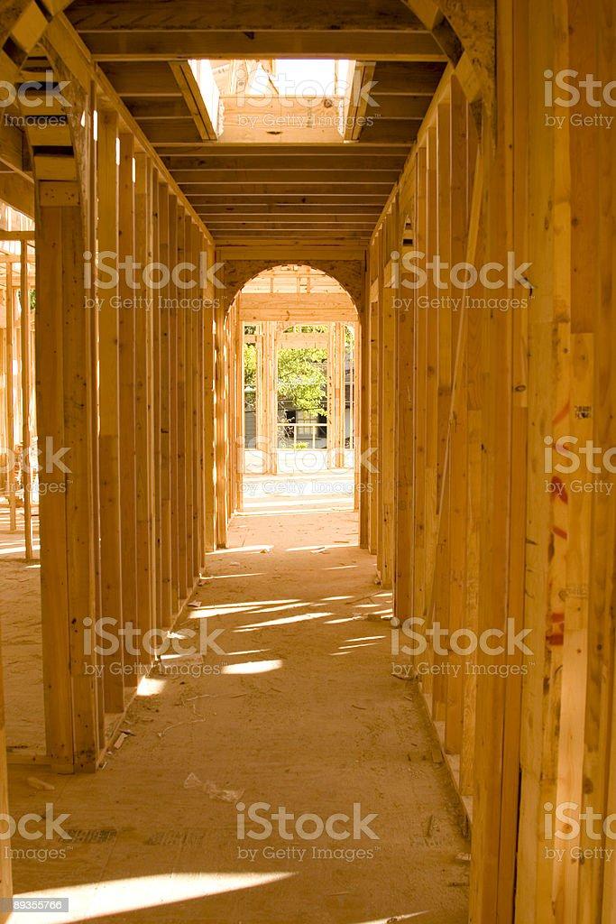 Oprawione na korytarzu zbiór zdjęć royalty-free