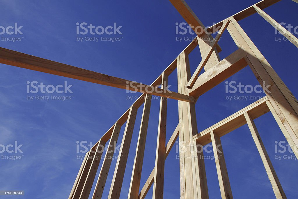 Framed Wall With Blue Sky 2 stock photo