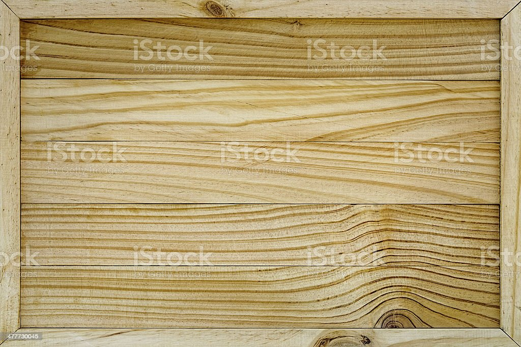 Framed wood board background. royalty-free stock photo